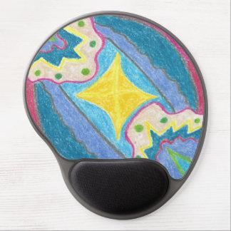 Waves and Island Stylized Gel Mousepad