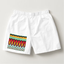 Waves and other shapes pattern boxers