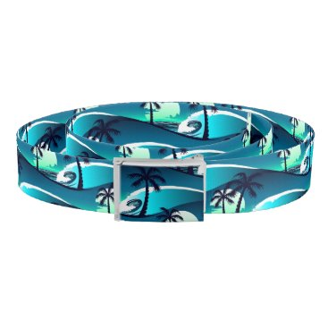 Beach Themed Waves and palm trees belt