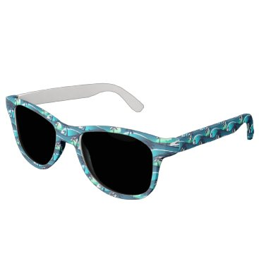 Beach Themed Waves and palm trees sunglasses