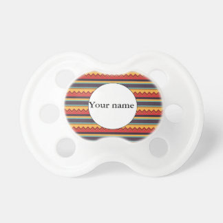 Waves and stripes pattern pacifier