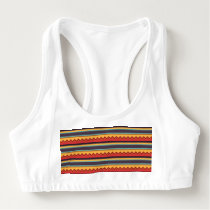 Waves and stripes pattern sports bra