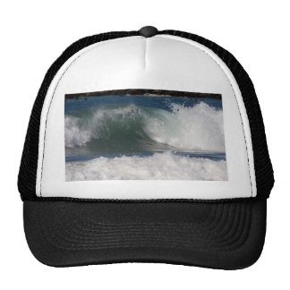 Waves And Surfers Near The Jetty In Ocean Beach Trucker Hat