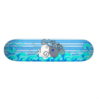 Waves And Whales Skate Deck