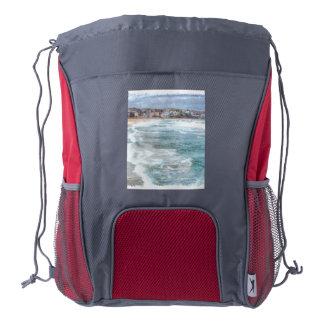 Waves at Bondi beach Drawstring Backpack