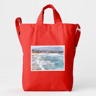 Waves at Bondi beach Duck Bag