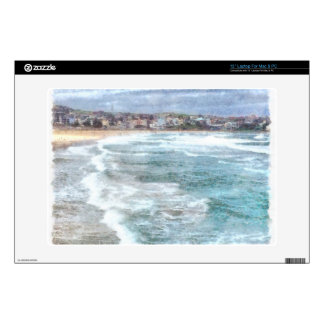 Waves at Bondi beach Laptop Decals