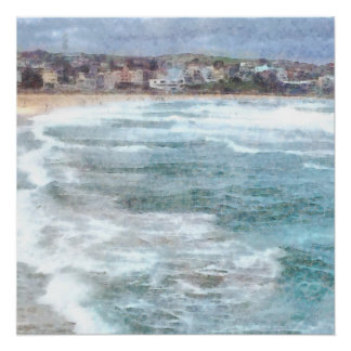 Waves at Bondi beach Poster