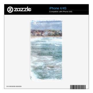 Waves at Bondi beach Skins For iPhone 4