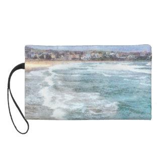 Waves at Bondi beach Wristlet Purse