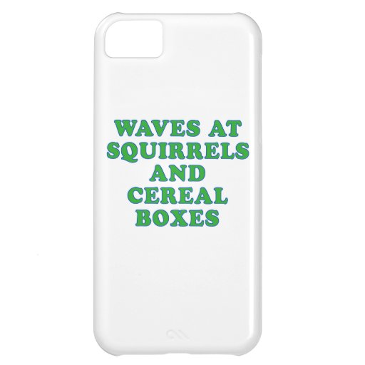 Waves at Squirrels and cereal boxes iPhone 5C Cover