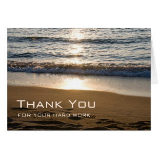 Waves at Sunset Administrative Professionals Day Card