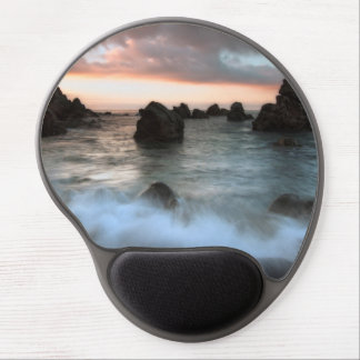 Waves at Sunset Beach, Catalonia, Spain Gel Mouse Pad