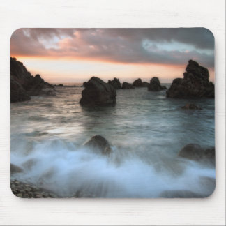 Waves at Sunset Beach, Catalonia, Spain Mouse Pad