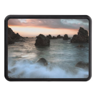 Waves at Sunset Beach, Catalonia, Spain Tow Hitch Cover