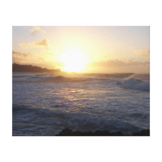 Waves at Sunset Gallery Wrap Canvas