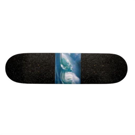 waves/black skate decks