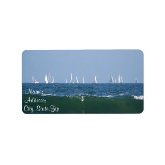 Waves & Boats_ Personalized Address Label