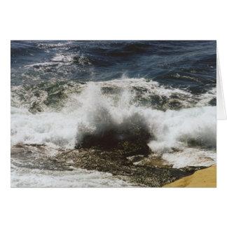Waves Breaking at Seashell Beach Card