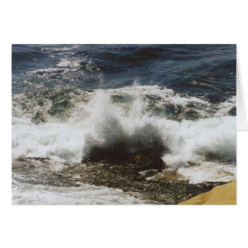 Waves Breaking at Seashell Beach Greeting Card