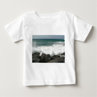 Waves Breaking On Pier Baby T-Shirt