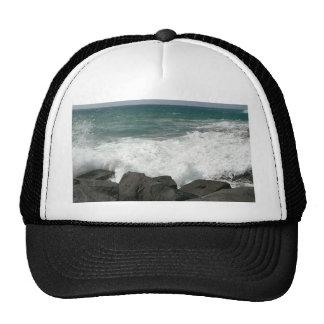 Waves Breaking On Pier Trucker Hat