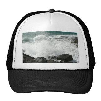 Waves Breaking On Pier On Beach Trucker Hat