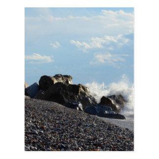 Waves Breaking On Rocks Postcard