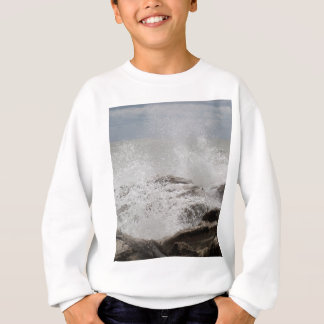 Waves breaking on rocks sweatshirt
