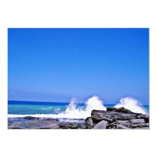 Waves Breaking On The Turkish Mediterranean Coast 5x7 Paper Invitation Card