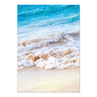 Waves breaking on tropical shore 5x7 paper invitation card