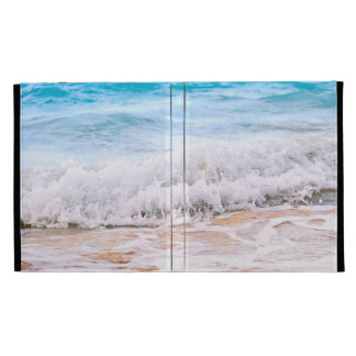 Waves breaking on tropical shore iPad cases