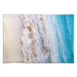 Waves breaking on tropical shore place mat
