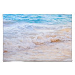 Waves breaking on tropical shore place mats