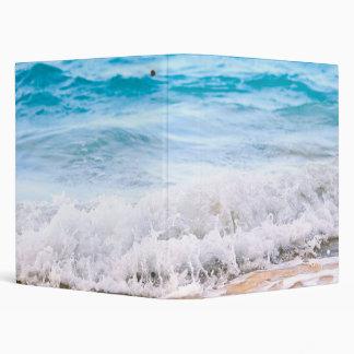 Waves breaking on tropical shore vinyl binders