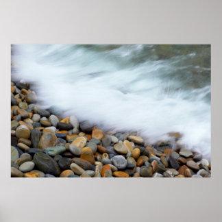 Waves Breaking Onto Pebbles, Tsitsikamma Poster