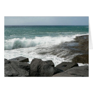 Waves Breaking Rocks Card