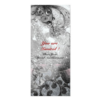 WAVES bright ice metallic black white sparkles Card