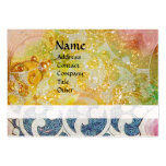 WAVES ,bright ,vibrant ,yellow blue pearl sparkle Large Business Cards (Pack Of 100)