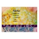 WAVES bright , vibrant ,yellow ,blue sparkles Large Business Cards (Pack Of 100)