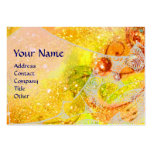 WAVES, bright vibrant yellow blue sparkles Large Business Cards (Pack Of 100)