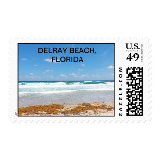 Waves Bringing in ther Seaweed Stamp