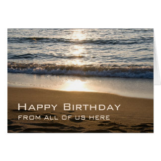 Waves Business Happy Birthday from Group Card
