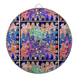 Waves Colorful Art Dartboards