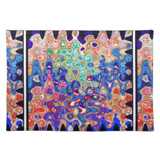Waves Colorful Art Cloth Placemat