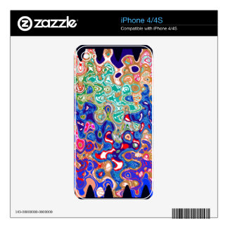 Waves Colorful Art Skins For iPhone 4S