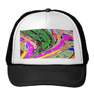 WAVES COLORFUL SPECTRUM PATTERN SHIRTS ENERGY TRUCKER HAT