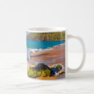 Beach Themed Waves crash on the beach, Hawaii Coffee Mug