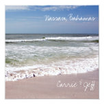 Waves Crash on the Sandy Beach Custom Invitations