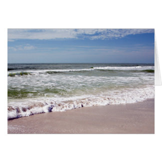 Waves Crash on the Sandy Beach Greeting Card